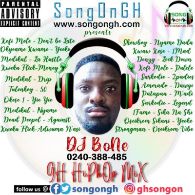 DJ BoNe GH HipHop Mix 2021 Prod By SongOnGh www songongh com mp3 image