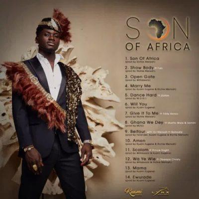 Kuami Eugene Son of Africa Album cover